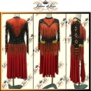 PRECIOSA STONE CUSTOM DESIGNED LATIN RHYTHM SALSA COMPETITION DANCE DRESS VL597
