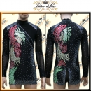 PRECIOSA STONE CUSTOM DESIGNED MAN LATIN SALSA COMPETITION SHIRT B288C