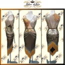 PRECIOSA STONE CUSTOM DESIGNED LATIN RHYTHM SALSA COMPETITION DANCE DRESS LT1248