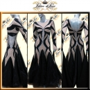 PRECIOSA STONE CUSTOM DESIGNED BALLROOM RHYTHM STANDARD DANCE DRESS (VS152)