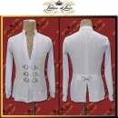 PRECIOSA STONE CUSTOM DESIGNED MAN LATIN SALSA COMPETITION SHIRT B415