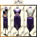 PRECIOSA STONE CUSTOM DESIGNED LATIN RHYTHM SALSA COMPETITION DANCE DRESS VL677